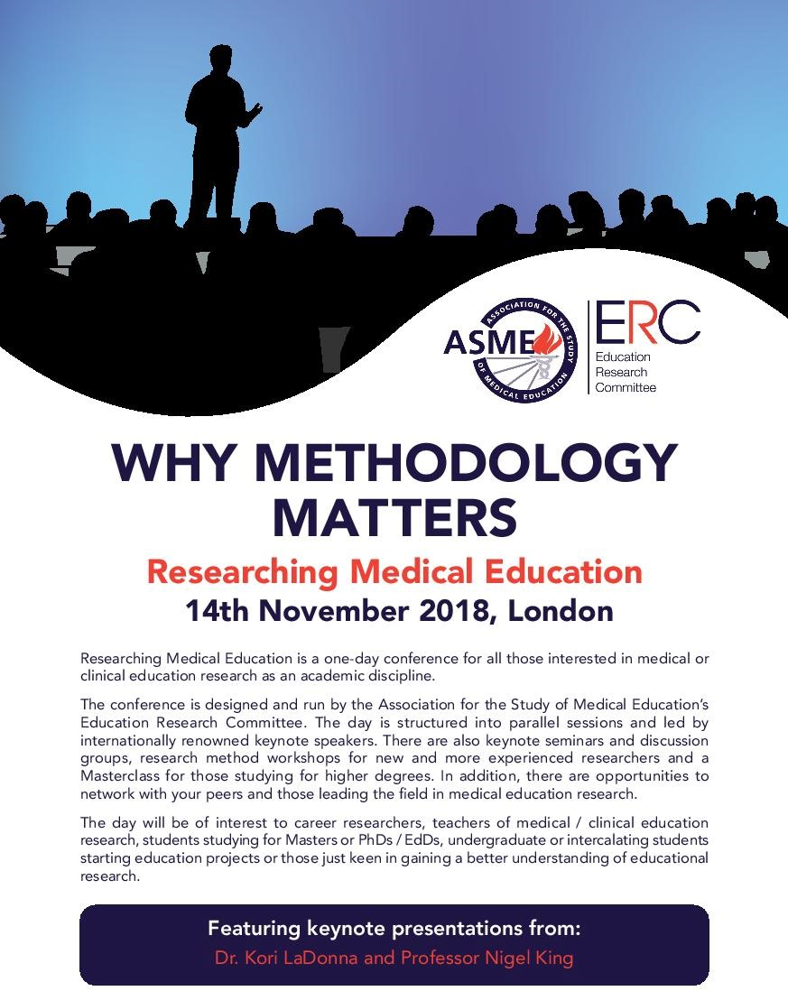 Researching Medical Education conference 2018