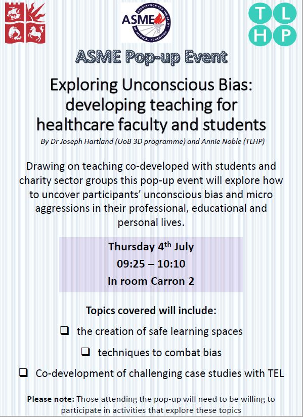 Thursday Exploring unconscious bias
