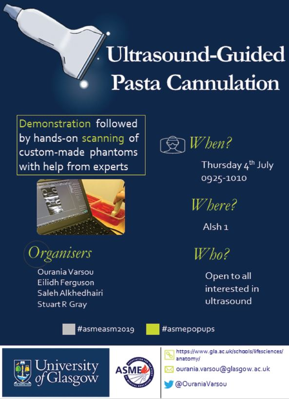 Thursday Ultrasound guided pasta